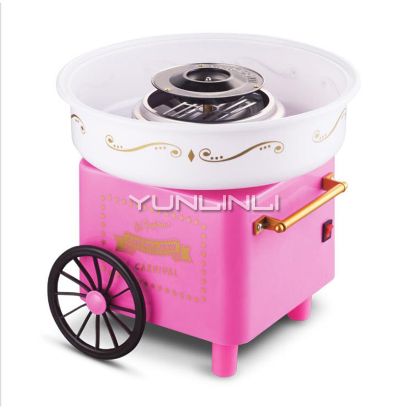 Household Cotton Candy Machine Children Cart Type Cotton Candy Machine Fully Automatic Electric DIY Cotton Suger Maker  MakerHousehold Cotton Candy Machine Children Cart Type Cotton Candy Machine Fully Automatic Electric DIY Cotton Suger Maker  Maker