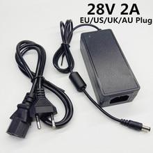 28V 2A alimentation à découpage adaptateur ca cc 28v2a 28 volts adaptateur secteur convertisseur commutation ue US UK prise AU 5.5mmx2.1 2.5mm