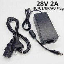 28V 2A anahtarlama güç kaynağı ac dc adaptörü 28v2a 28 volt güç adaptörü dönüştürücü anahtarlama ab abd İngiltere AU fiş 5.5mmx2.1 2.5mm