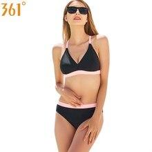 Купить с кэшбэком 361 Female Swimsuit Sexy Push Up Black Bikini Se Brazilian Bikini Set Bathing Suit Striped Swimming Suit for Women Girls Bather