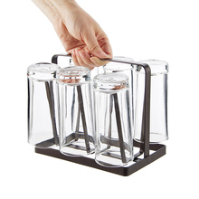 1PC Home Living Goods Iron Art Japanese Upside Down Cup Holder Upside Down Dip Cup Shelf Coffee Cup Storage Rack Mug Holder Rack upside down babies