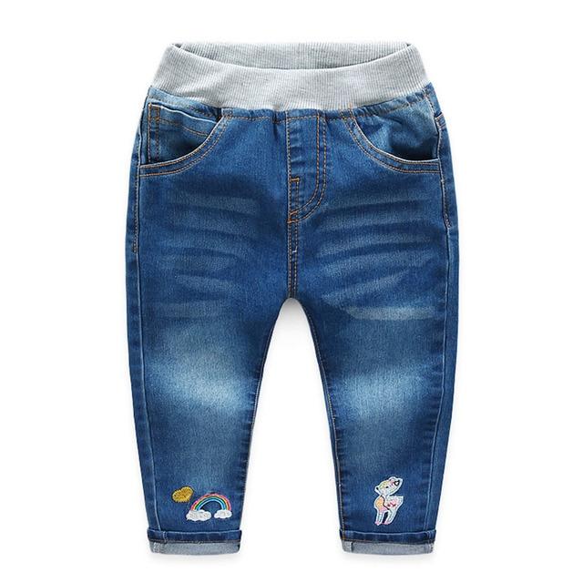 Девушки джинсы детская одежда хлопок джинсовые брюки весна 2017