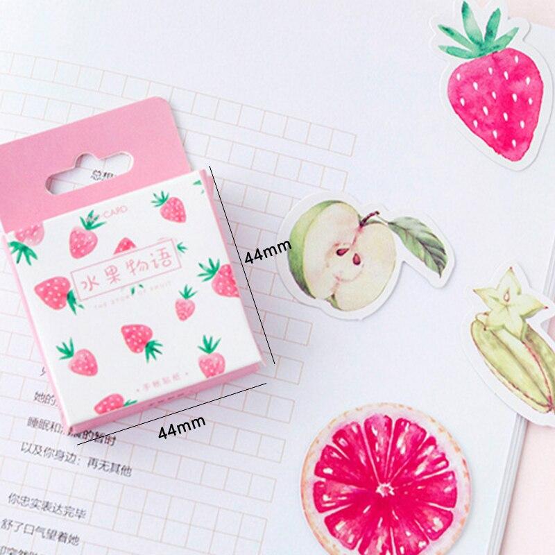 Купить с кэшбэком 20packs/lot Lovely Fruit Story Cartoon Diary Adhesive Scrapbooking Decorative DIY Stickers Wholesale