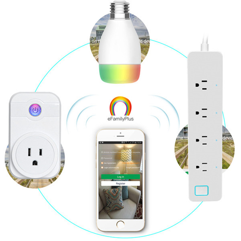 Smart Home Automation Timer Socket Smart Plug wifi Power Socket Plug Timer voice control for Andriod IOS Phone EU/US/UK/AU Plug gorelax uk wifi wireless remote control socket smart timer plug smart home power socket uk standard via app phone