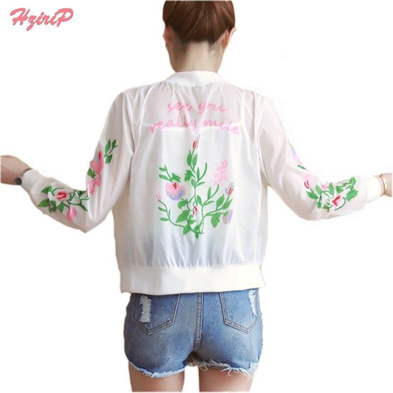 HziriP Harajuku Women Thin Sunscreen Coat Transparent ...