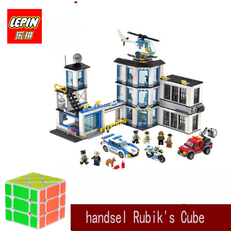 lepin city police LEPIN 02020 965pcs City Series The New Police Station Set Compatible Legoinglys 60141 Building Blocks Bricks
