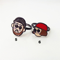 Leon The Professional Rings Leon And Mathilda Movie Epoxy Finger Rings Fashion Trendy For Girls And