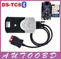 NEC Relay Azul Bordo PCB 2014 R2 DVD Calidad A + TCS CDP PRO Plus Bluetooth + Firmware 1423 OBD II Vehículos Camiones 3in1 herramienta de Diagnóstico