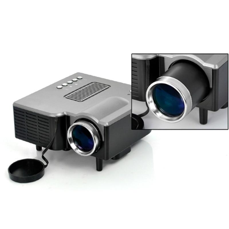 UC28 Mini AV LED Digital Projector w/USB, SD Card Slot & Speaker - 17 - 67 Display