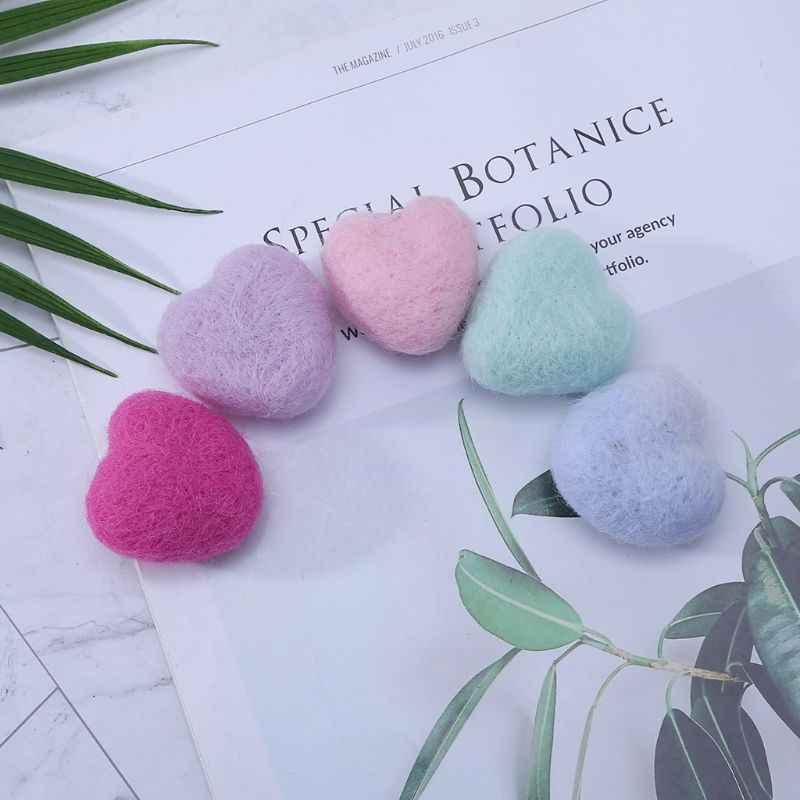 ウールのハート新生児ハート形ぬいぐるみベビー写真の小道具フォトショット DIY ヘッドドレス帽子服の装飾かわいい