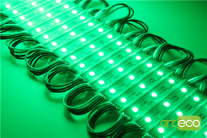 Image 4 - Módulo de led de 100 pçs/lote dc12v 5050 3leds, rgb luz de módulo de led rgb ip65 à prova dágua