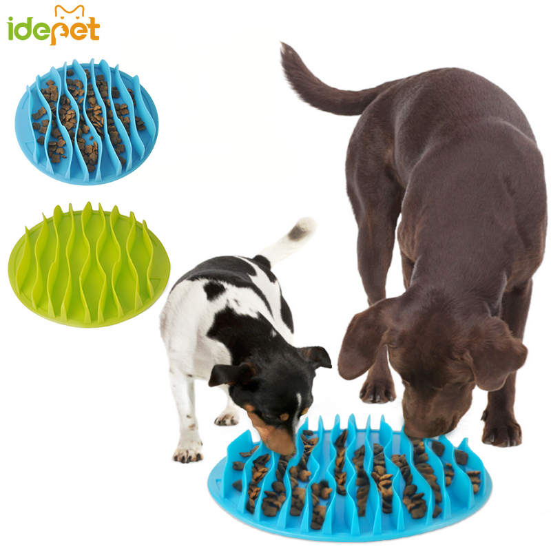 Pet Dog Cat Food Slow Feeder Jungle Design Puppy Anti Slip Choke Proof Bowl Stop Maze Bowl Healthy Eating Feeding Bloat Supplies