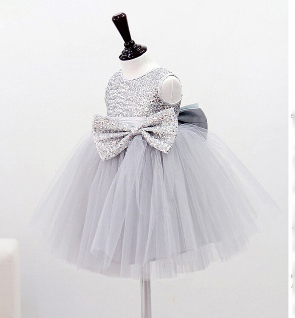 little girl wedding dress for party kids roupas infantis menina  baby girl dress sequin kids formal dress 2 years -4 years
