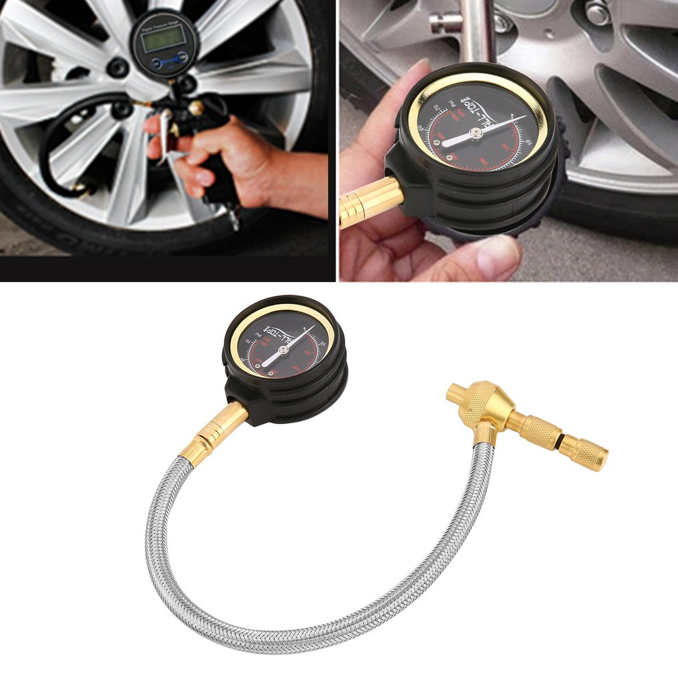 Rapid Tyre/Tire Deflator Car Trucks Tire Pressure Gauge Air