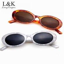 Long Keeper Hot Marble Pattern Frame Oval Sunglasses Women Men Brand Designer Vintage Eyewear Oculos De Sol Feminino Gafas