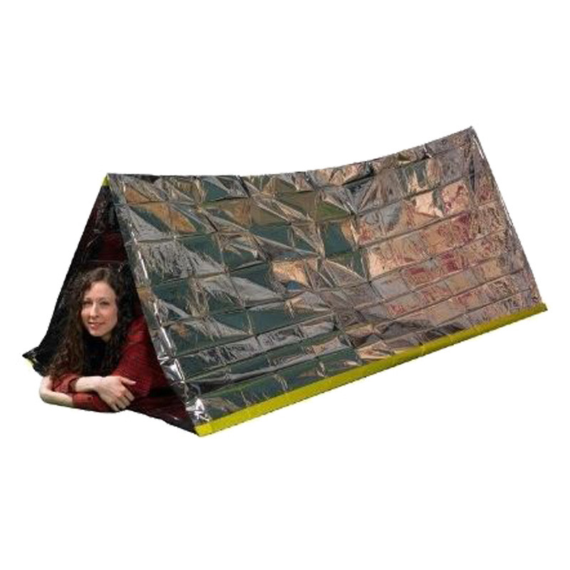 Argent Emergency Shelter Tent Outdoor Ultralight Portable Camping SOS Shelter Mylar Emergency Tube Tent First Aid
