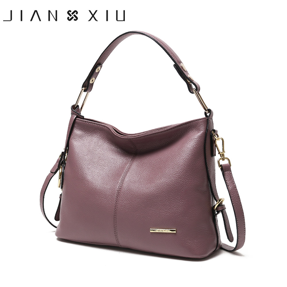 JIANXIU Brand Genuine Leather Handbag Fashion Luxury Handbags Women Bags Designer Shoulder Bag 2018 Ladies Soft Cowhide Big Tote ladies genuine leather handbag 2018 luxury handbags women bags designer new leather handbags smile bag shoulder bag