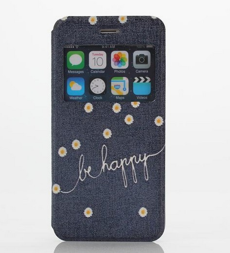 Cheap High Quality Leather Case For Iphone6 Be Happy