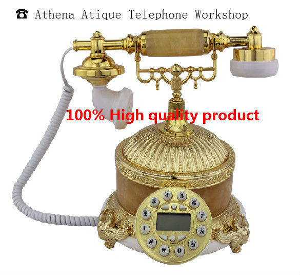 Retro Vintage Telefono Phone with Caller Id / The Newest Unique Cool Corded Telefone