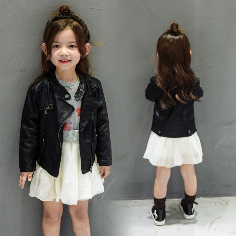 Toddlers Kids Velvet PU Leather Jacket Coat Clothes Autumn Winter 2018 Boys Girls Thin/Thick Black Children Zipper Biker Jackets zipper fly chamois biker jacket