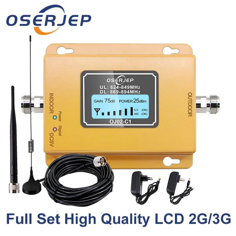 CDMA Repeater 850 MHz 70dB LCD 2G 3G 4G 850mhz UMTS GSM CDMA Mobile Phone Signal