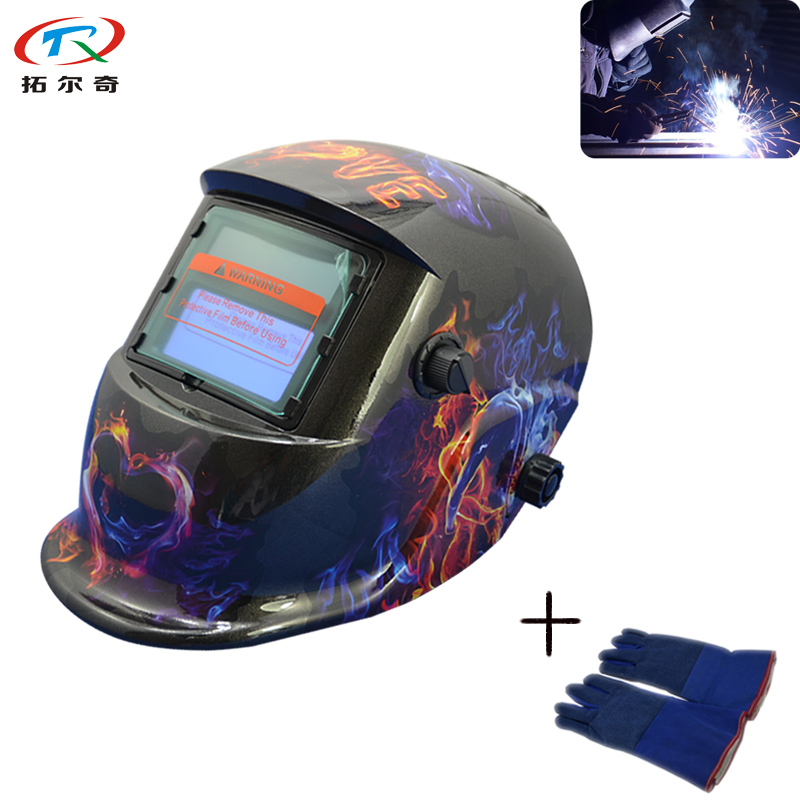 Welding & Soldering Supplies Welding Helmets Comfortable Welding 1pc Battery Replaceable Self Test Low Power Warn Welding Helmet Auto Darkening Fast Shipping Trq-hd11-2233ff With The Most Up-To-Date Equipment And Techniques