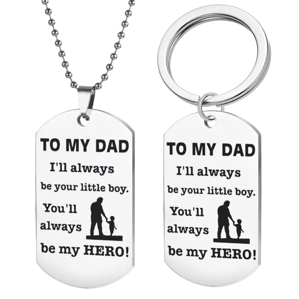 Father Day Gift Keychain Dad I Love You Lettering Tool Pendant Keychain Pendant