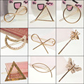 New Brand Hairpins Star Moon Triangle Fashion Jewelry Hairgrips Hair Clasp Clip For Women Jewelry Gift
