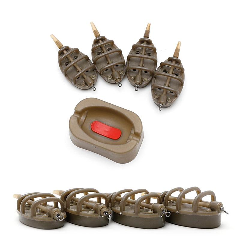 Inline method carp fishing feeder 4 feeders 15//20//25//35g 30//40//50//60g mould DSUK