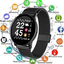 ساعة ذكية للرجال والنساء شاشة تعمل باللمس ضغط الدم معدل ضربات القلب ساعة ذكية للنساء مقاوم للماء ساعة رياضية لنظام أندرويد IOS شاومي 2019