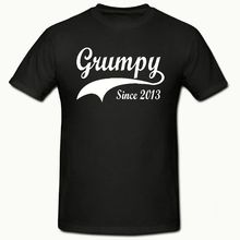 GRUMPY SINCE ( ANY YEAR) T SHIRT, FUNNY NOVELTY MENS SHIRT,SM-2XL,T SHIRT New Shirts Funny Tops Tee free shipping