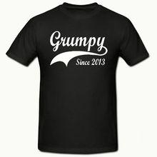 GRUMPY SINCE ( ANY YEAR) T SHIRT, FUNNY NOVELTY MENS SHIRT,SM-2XL,T SHIRT New Shirts Funny Tops Tee free shipping