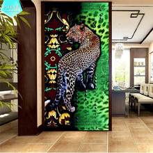 PSHINY 5D DIY Diamond embroidery Striped Leopard Animals Pictures Full Mosaic kit square rhinestone painting cross stich