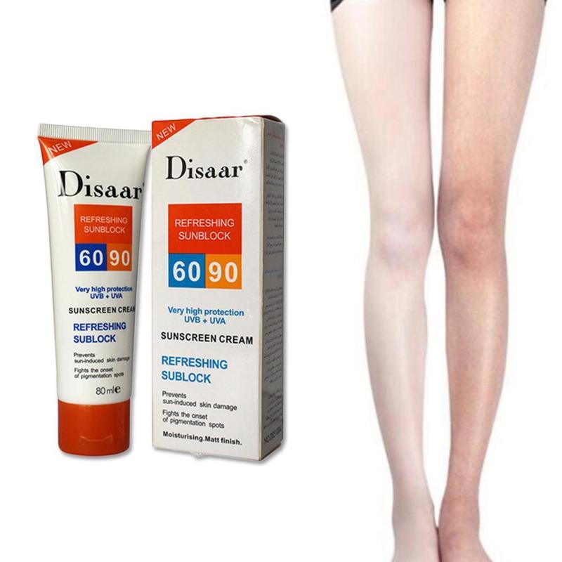 Sunscreen Cream Disaar Beauty Skin Care Facial Spf Max 90 Oil Free Radical Scavenger Anti Oxidant UVA/UVB 80ml Body Sunblock