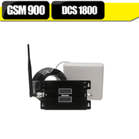 Lintratek LCD Display 65dB Dual Band Mobile Signal Booster For GSM 900mhz DCS 1800mhz LTE 1800