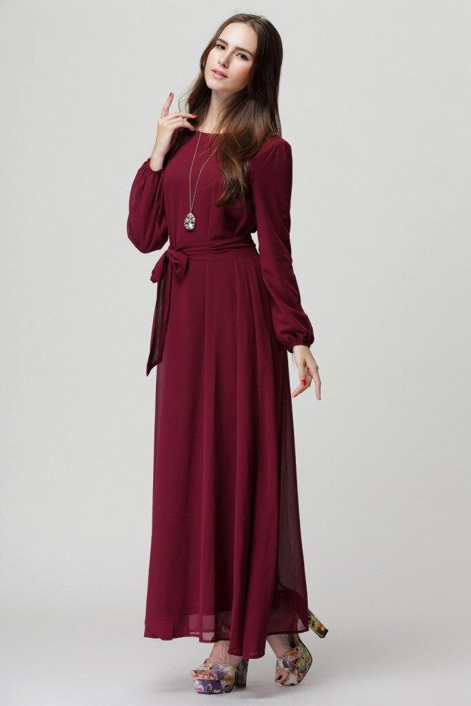 High Quality chiffon muslim Maxi Long Dress Kaftan Abaya Jilbab Islamic Clothing CP023