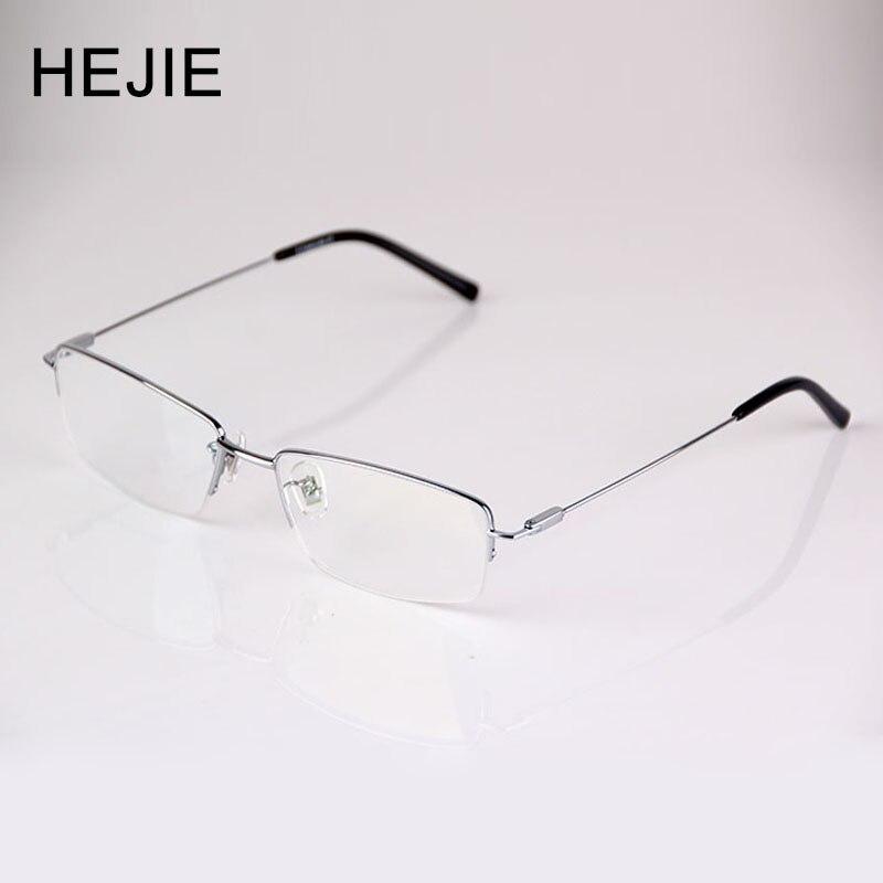Fashion Men Pure Titanium Reading Glasses Thin Coating Anti Glare Lens Half Rim Frame Size 54
