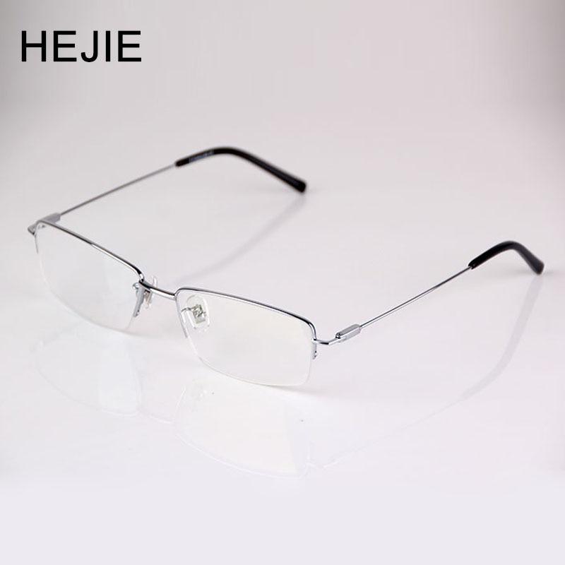 Μόδα άνδρες καθαρό τιτανίου γυαλιά ανάγνωσης λεπτή επίστρωση αντι γυαλιστερό φακό μισή διάμετρος πλαίσιο μέγεθος 54-17-140mm διόπτρα + 0.5- + 4.0 9065