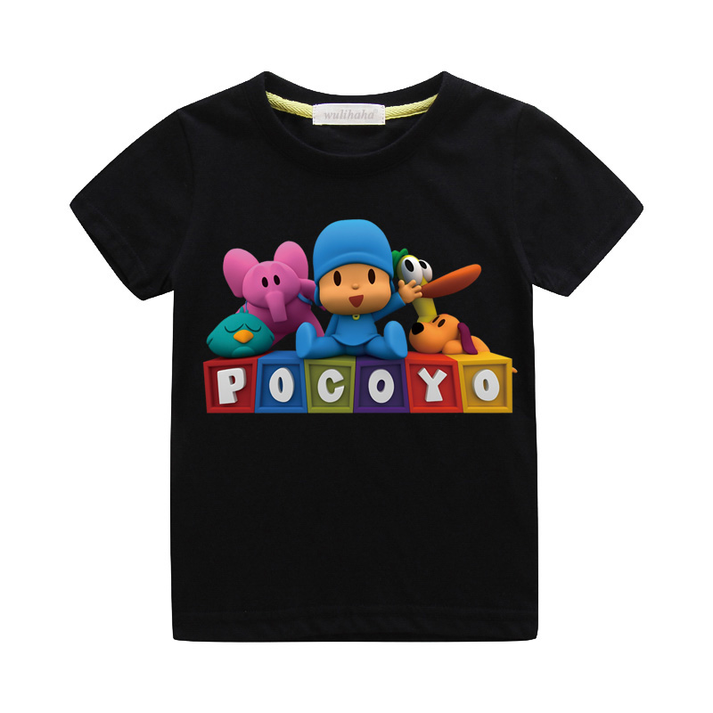Kids Summer Cartoon Pocoyo Print T-shirts Boys Girls Cute 3D Funny Tshirts Costume Child Casual Tee Top Clothes For Baby ZA067 (5)