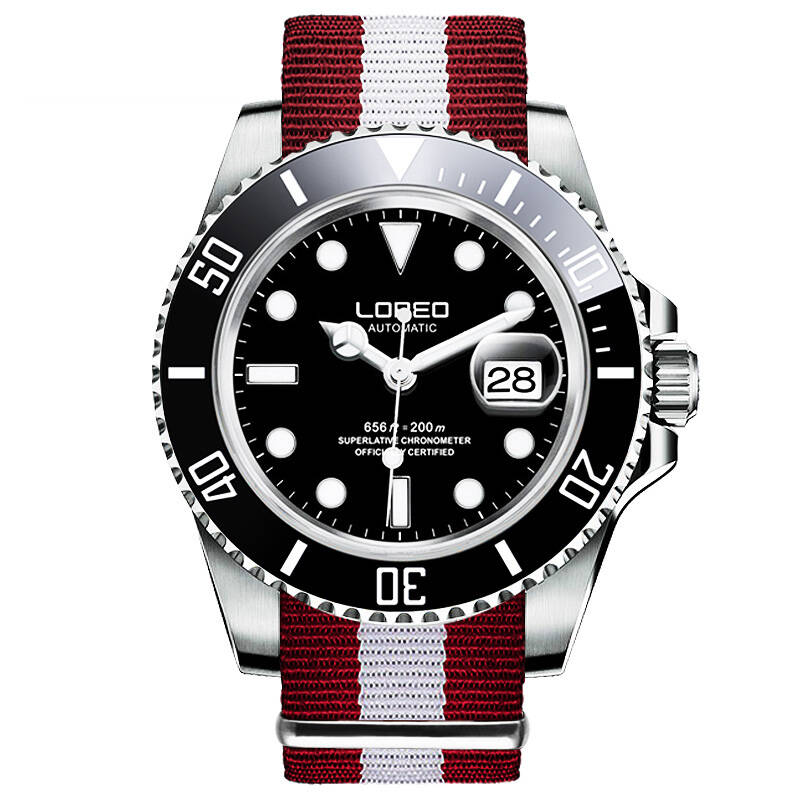 LOREO 9201 Germany watches men luxury brand automatic self-wind sapphire busineess luminous waterproof 200M stainless steel