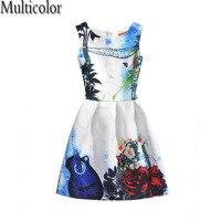 New Design Customs Anna Elsa Girls Vintage Dress Kids Girl Vestidos Children Fashion Dresses Pincess Party