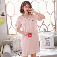 Pink Lounge Nightgown Home Dressing Nightdress Novelty Women Satin Sleepwear Robe Intimate Lingerie Mini Bathrobe Night Wear