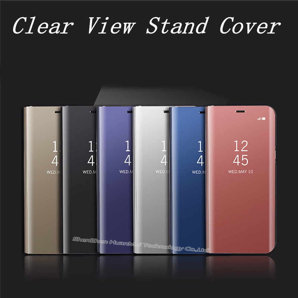 big sale 1c16a 7a083 Detail Feedback Questions about Note8 Mirror Clear View flip Cover ...