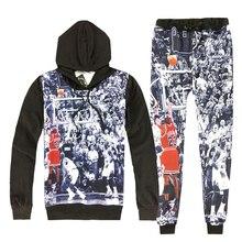 8c88dd6dc3e5 New Autumn Mens 2 Piece Sets Hooded+Pants Sweatshirts Sweatpants Tracksuit  Men Hip Hop 3D Print Jordan Casual Brand Clothing