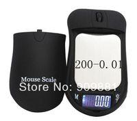 Mini 200g 0.01g Balança Digital de Bolso LCD Rato Forma Milho Peso Escalas Jóias 0.01g Precisão Grama de Ouro Ferramentas Medida Banlace