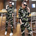 Survetement Sudaderas Mujer 2016 Hoodies Women Sweatshirt + Pants Hooded Camouflage Tracksuit Women Plus Size Two Piece Set 3XL
