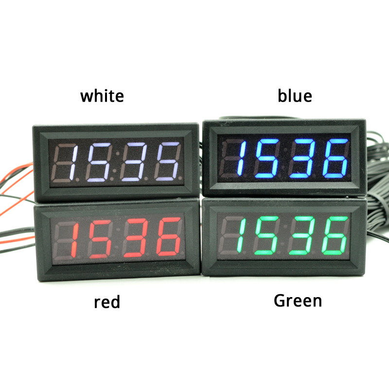 New Creative 3in1 Car Digital LED Temperature Thermometer Clock Calendar Automotive with white color,double temperature,1.5+3M led automotive car electronic clocks watchesthermometer voltmeter luminous digital clock white dual temperature reverse display