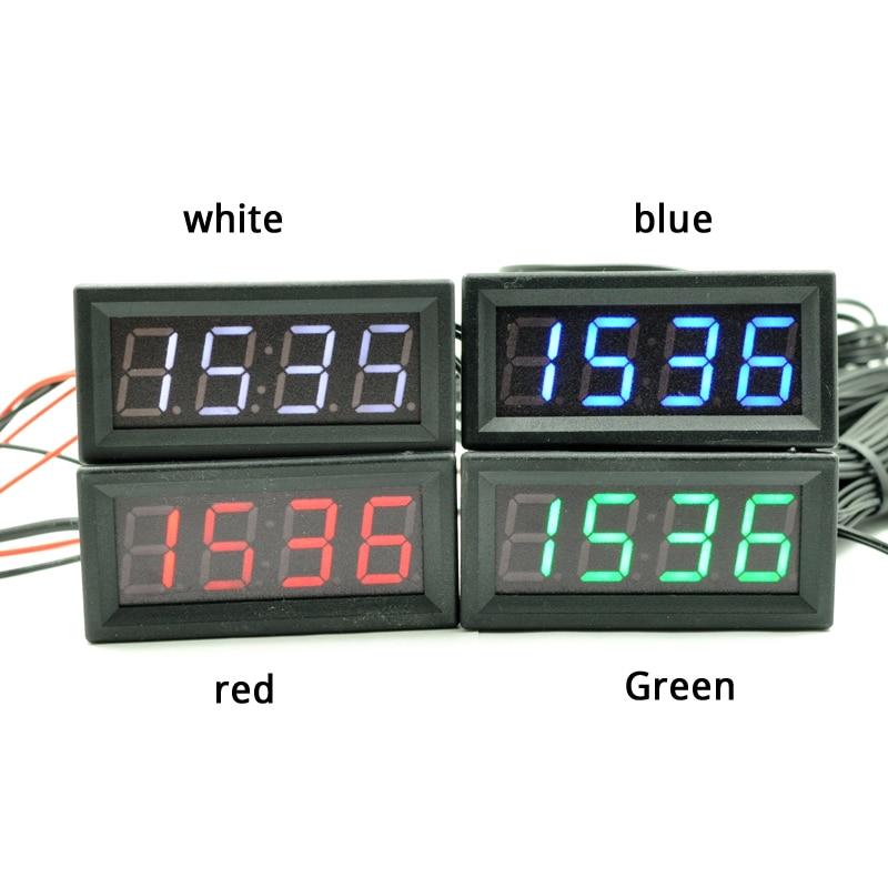 ccaf4dc25d6 Novo Criativo Carro 3in1 LED Digital Temperatura Termômetro Relógio  Calendário Automotivo com a cor branca