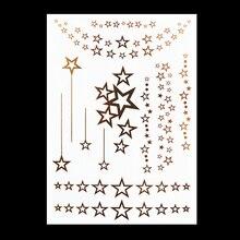 #HT-7 Elegant Stars Hair Tattoo, Hair Accessories, Metal Tattoos Flash Tattoo