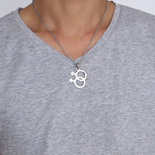 Double LGBT Male Logo Pendant Cute Titanium Necklace